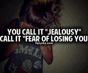 jealousy, fear, and quote image