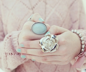 fashion, ring, and pink image