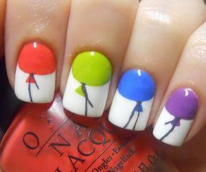 nails, balloons, and nail art image