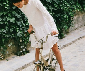beauty, bike, and model image