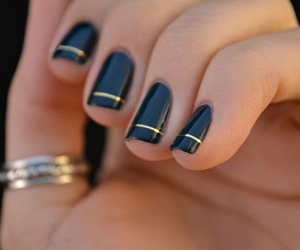 black, fancy, and nails image