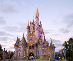 castle, disneyland, and pink image