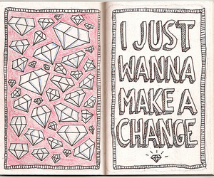 diamond, quotes, and pink image