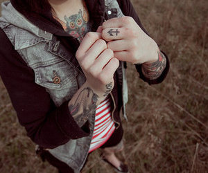 tattoo, anchor, and owl image