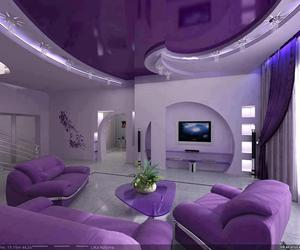purple, room, and home image