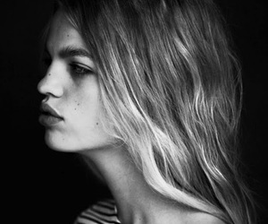 model, daphne groeneveld, and black and white image