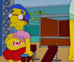 fat, milhouse, and funny image
