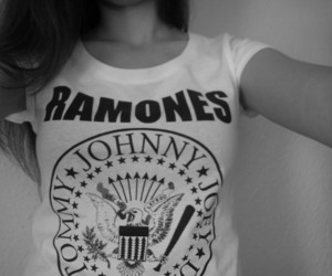 black and white, fashion, and ramones image