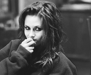 kristen stewart, black and white, and hair image