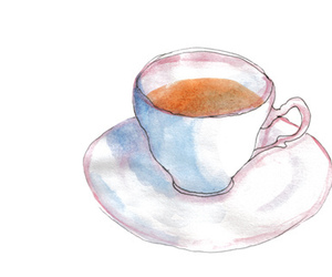 tea, coffee, and drawing image