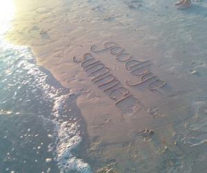 summer, beach, and goodbye image