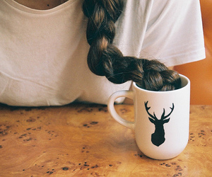 vintage, hair, and cup image