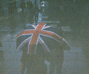 rain, umbrella, and england image