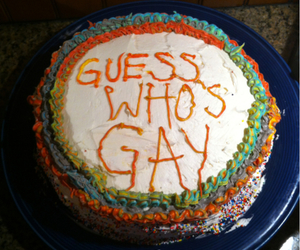 cake and gay image