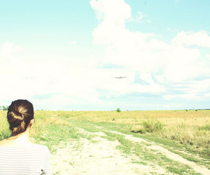alone, sky, and field image