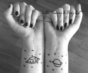 tattoo, planet, and space image