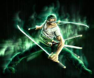 anime, one piece, and green image