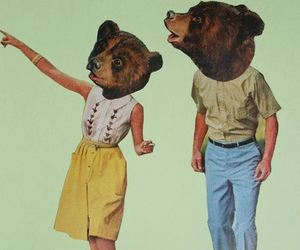 bear, hipster, and boy image