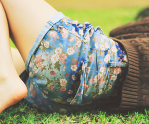 flowers, shorts, and clothes image