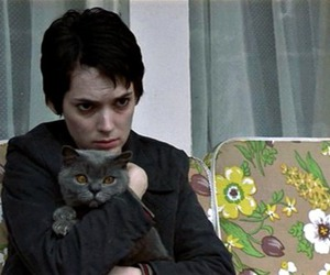 winona ryder, girl interrupted, and cat image