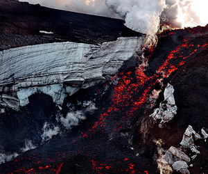 volcano and lava image