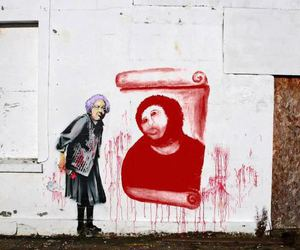BANKSY, funny, and granny image