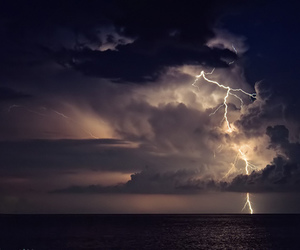 clouds, lights, and Orage image