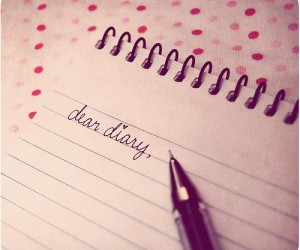 diary, pink, and dear image