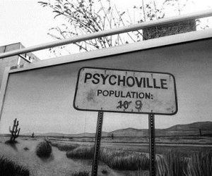 psychoville, Psycho, and black and white image