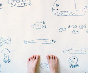 drawing, feet, and foot image