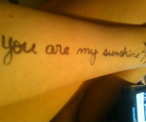 marker, you are my sunshine, and love image
