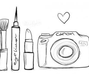 canon, girls, and maquillage image