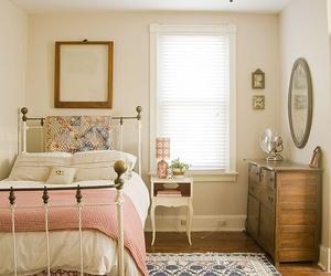 bedroom, room, and vintage image