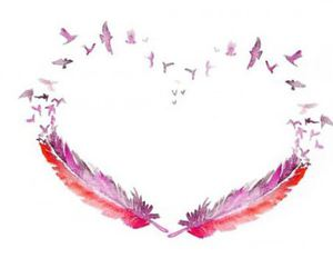 heart and birds image