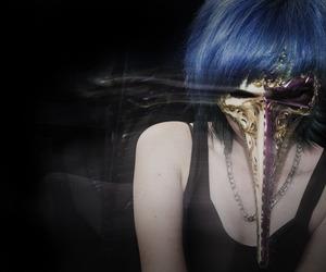 blue hair, creepy, and horror image