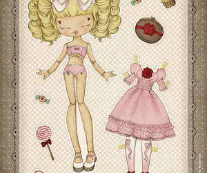 lolita, paper doll, and sweet image