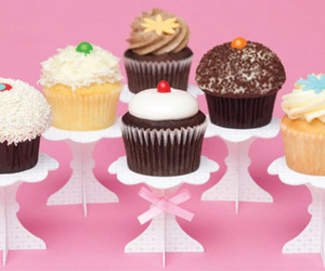 cupcake, cute, and pink image
