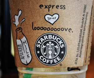 art, doodle, and starbucks image
