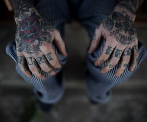 tattoo, hands, and boy image