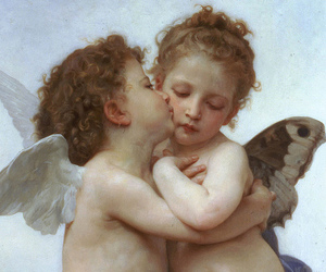 angel, art, and painting image