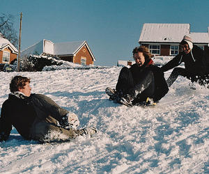 smile, snow, and friends image