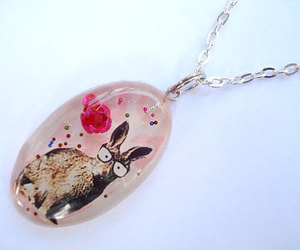 bunny, handmade jewelry, and pink image