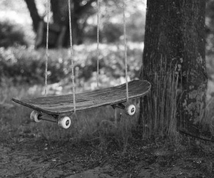 skateboard, swing, and skate image