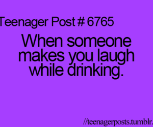 laugh, quote, and drink image
