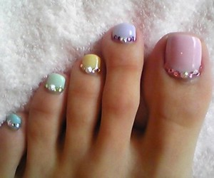 nails, nail art, and toes image