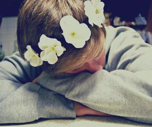 boy, hippie, and flowers image