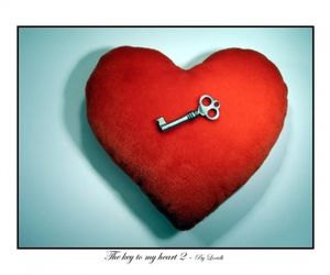 chave, heart key, and key image