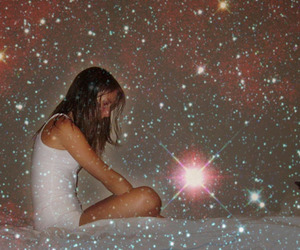 girl, star, and white image