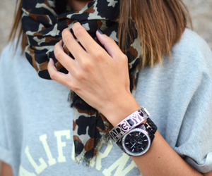 bracelets, outfit, and watch image