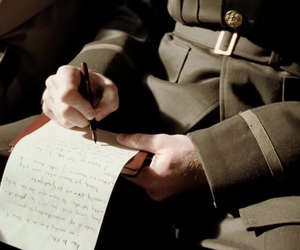 Letter and soldier image